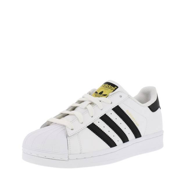 Adidas Superstar White And Black And Gold
