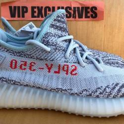 Adidas Yeezy Boost 350 V2 Blue Tint Grey Red Sply 100 Authentic. B37571