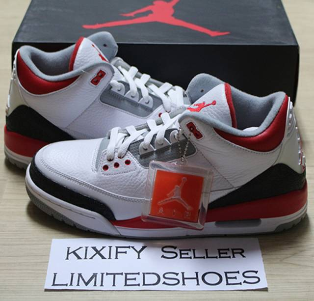 1ad92d8e27b05 2013 NIKE AIR JORDAN 3 III RETRO WHITE FIRE RED 136064-120
