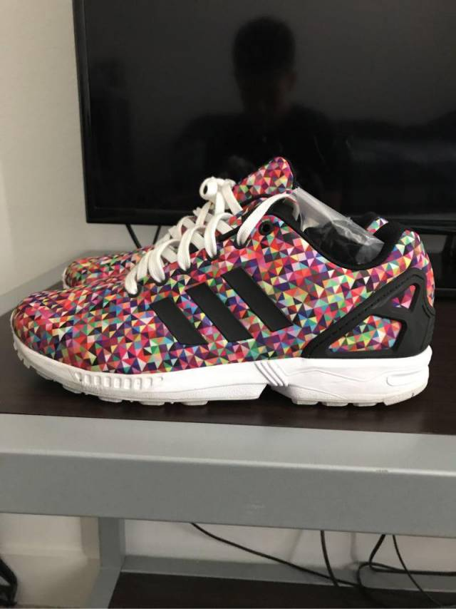 best service c8939 00f6d Adidas Zx Flux Multi Color Prism Size 10