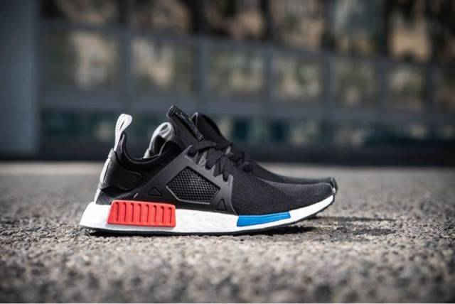 Adidas NMD XR1 PK Core Black Red BA7214 PrimeKnit Mens Trainers