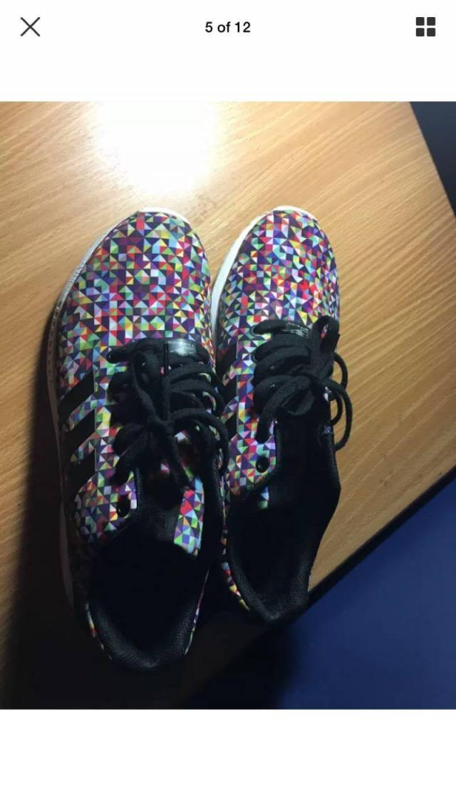 competitive price 2d4a4 2b22b Adidas Zx Flux Colorful Size 10