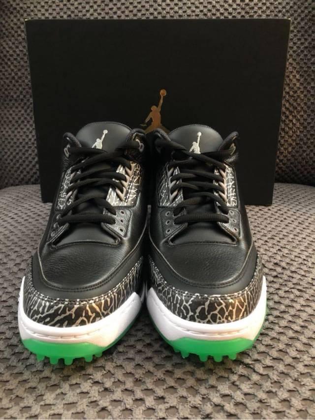 Air Jordan 3 Golf Shoe Black Green Glow 2018 Kixify Marketplace