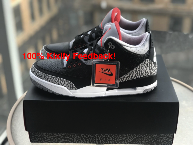 new style 34af7 2269c Air Jordan 3 Retro Og Black Cement 2018