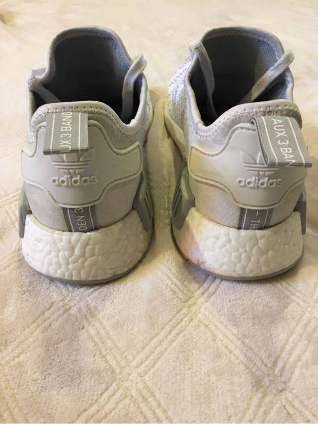 Adidas Nmd R1 Whiteout Size 9.5