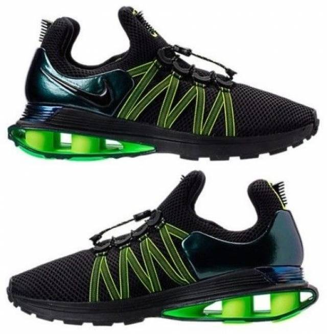 Nike Shox Black And Lime Green