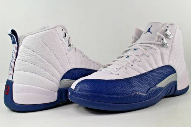 3269b67fe929 Nike Air Jordan Retro XII 12 French Blue White Metallic Silver Varsity Red  Lot