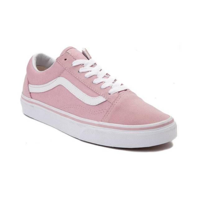 vans suede old skool shoes pink