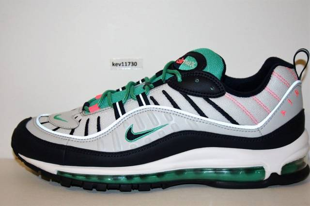 f82c956ba8 ... best deals on AUTHENTIC Nike Air Max 98 South Beach 640744 005 White  Pink Kinetic Green ...