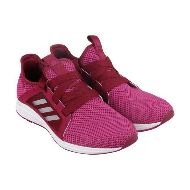 Adidas Edge Lux  mujer Pink Nylon de encaje hasta zapatillas de Atletismo