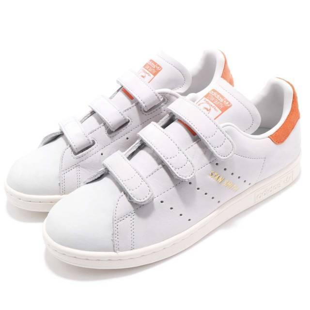 Adidas Originals Stan Smith CF W Crystal rastro blanco naranja mujeres