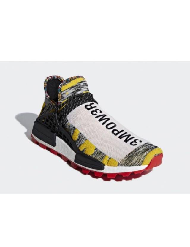 9b66492bf55 Adidas NMD Human Race Trail x Pharrell Williams HU Solar Pack Black Yellow  Red w Receipt (men s) Size 4-15
