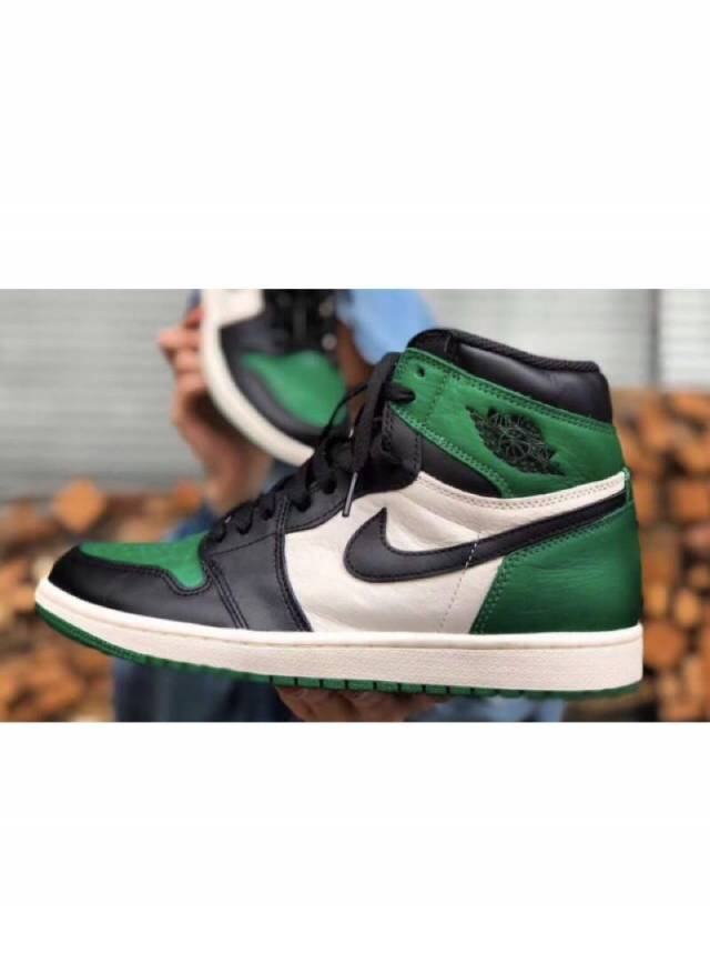 promo code cb139 5bbc3 Air Jordan 1 Retro High Og Gs Pine Green