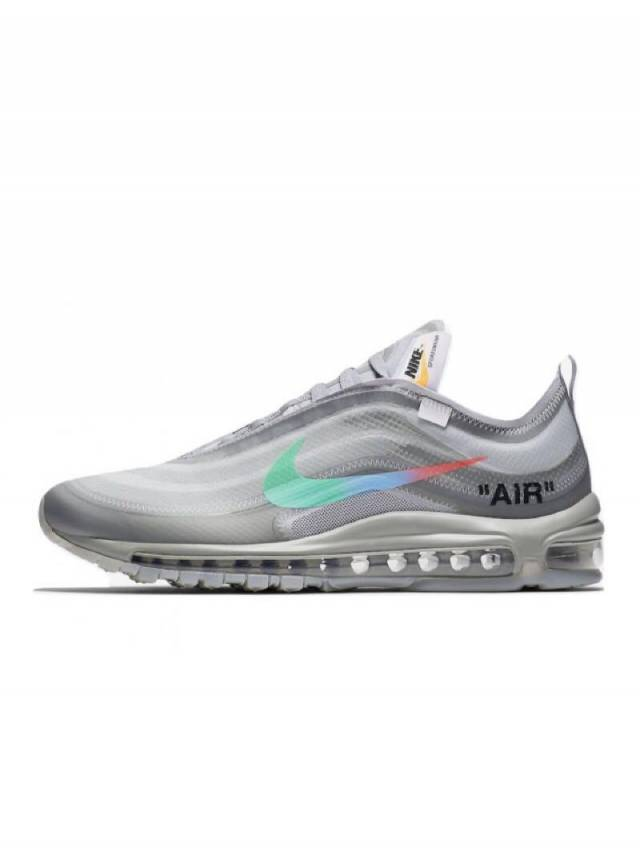 Off white X Nike Air Max 97 Menta Wolf Grey Aj4585 101