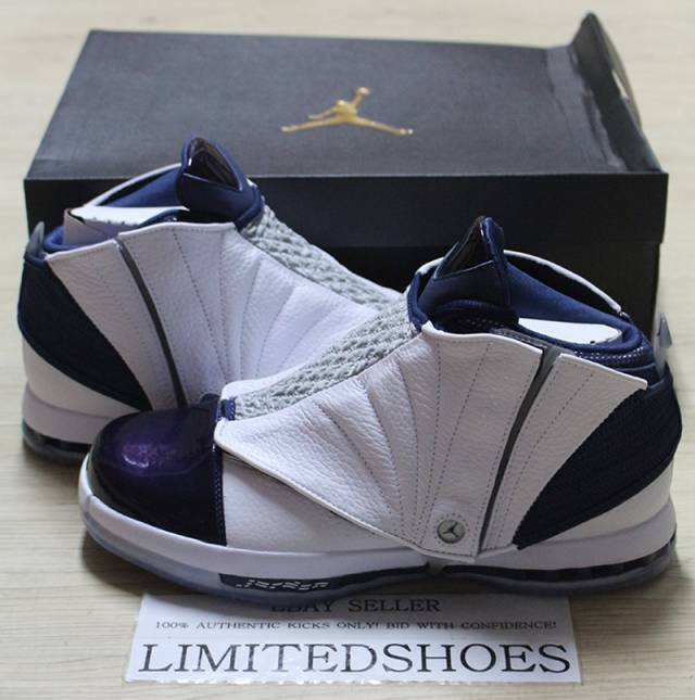 3ff2ace631e2 NIKE AIR JORDAN 16 XVI RETRO WHITE MIDNIGHT NAVY 683075-106