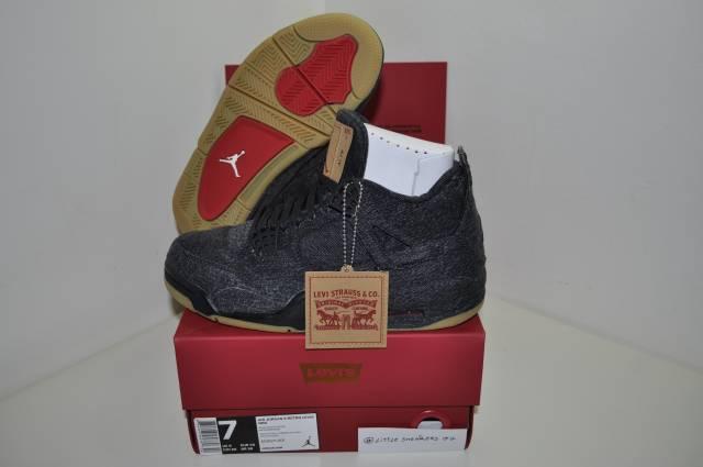 reputable site f64c9 e08d5 Nike Air Jordan 4 Retroblack X Levi's Size 7 Us 6 Uk 40 Eu