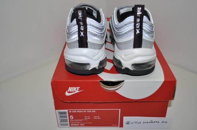 83fc04b6f4 Nike Air Max 97 Silver Bullet Womens Size 5 US 2.5 UK 35.5 E ...