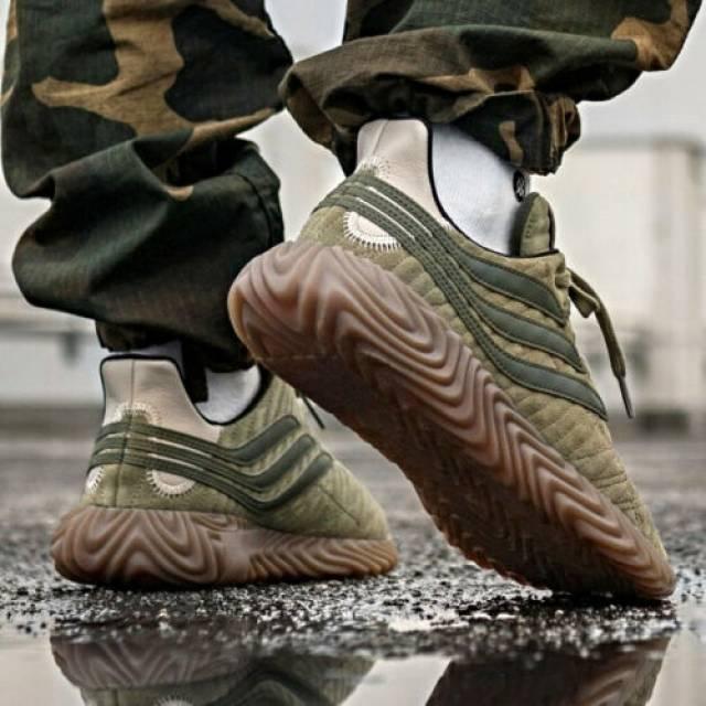 Adidas Sobakov Sneakers Camo Green new