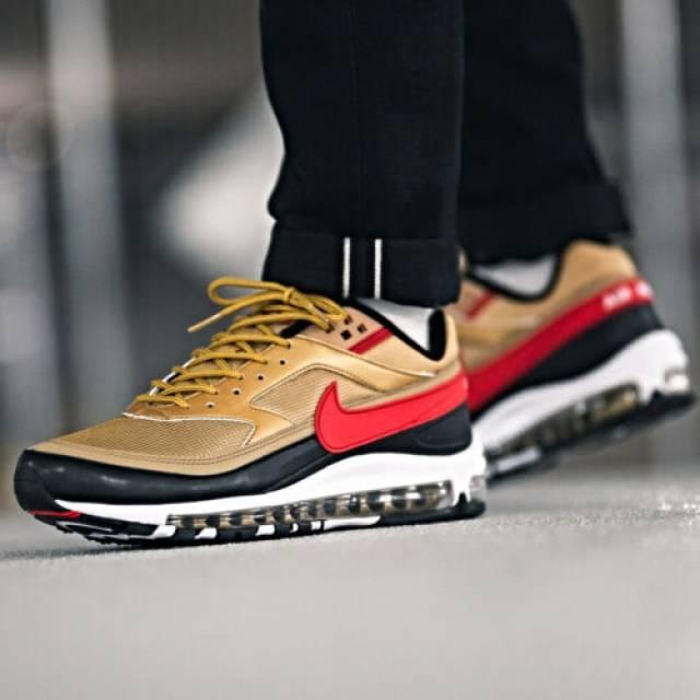 Nike Air Max 97bw Metallic Gold University Red