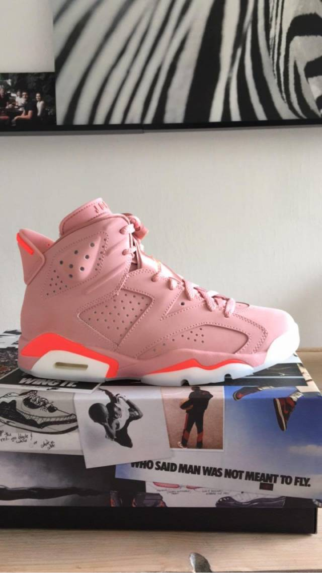 premium selection 0308b 52984 Aleali May X Air Jordan 6 Wmns Millennial Pink