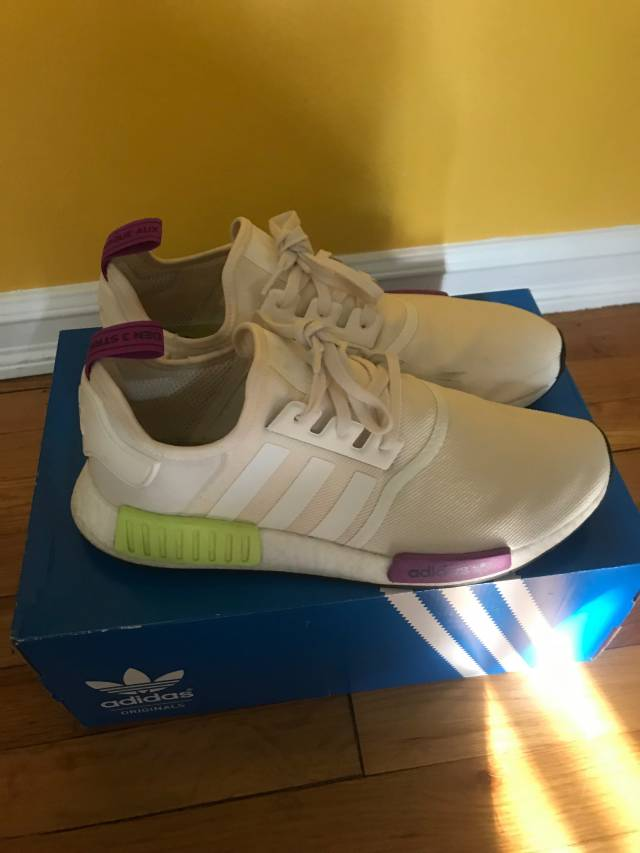 Adidas NMD R1 Off white colorway with