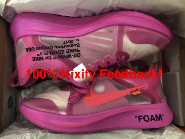 OFF-WHITE x Nike Zoom Fly SP Tulip Pink