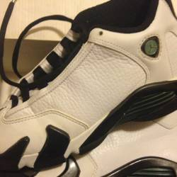Air jordan xiv white black oxi...