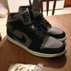 Air jordan 1 grey/black
