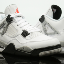 Air jordan retro 4 white cement
