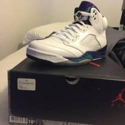 Jordan grape retro 5 s