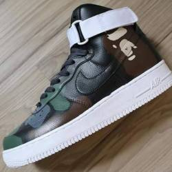 Hi top bape air forces grade s...