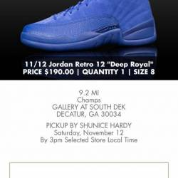 Air jordan 12 deep royal size 8