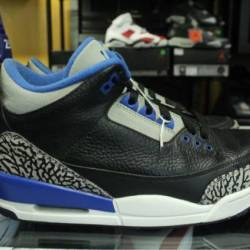 Jordan 3 sport blue size 9.5 p...
