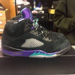 Jordan 5 black grape size 14 p...