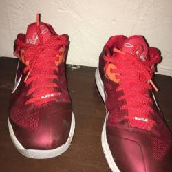 Lebron 9 low team red