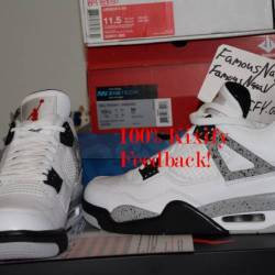 Air jordan 4 og 89 - white cement