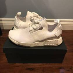 White nmd pk r1 gum sole