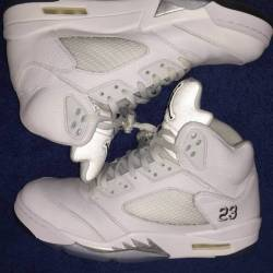 Air jordan 5 - metallic silver