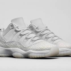 Air jordan 11 low gs prm white...