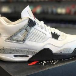 Jordan 4 white cement size 9.5...