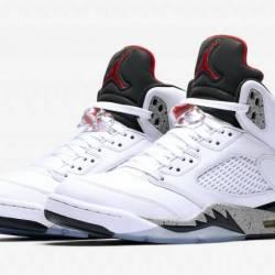 Jordan 5 retro white cement me...