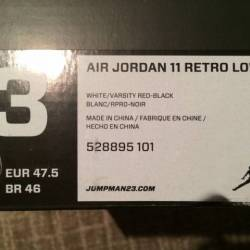 Air jordan 11 low white varsit...