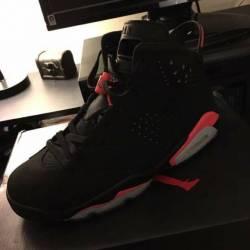 Black infrared air jordan retro 6