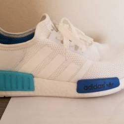 Adidas nmd r1 white cyan blue ...