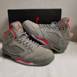 Air jordan 5 camo stucco suede
