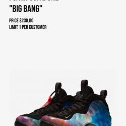 Nike air foamposite one big bang