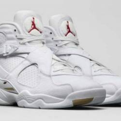 Air jordan 8 ovo white