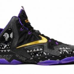 Nike lebron 11 bhm black histo...