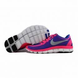 829d8d2a6ea91 Nike Free 5.0 V4 Hyper Pink Metallic Platinum-Hyper Cobalt 511281-605 SZ  8.5