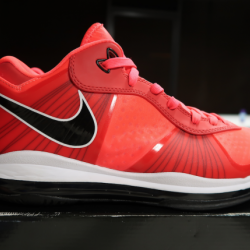 Lebron 8 v/2 low 'solar red' -...
